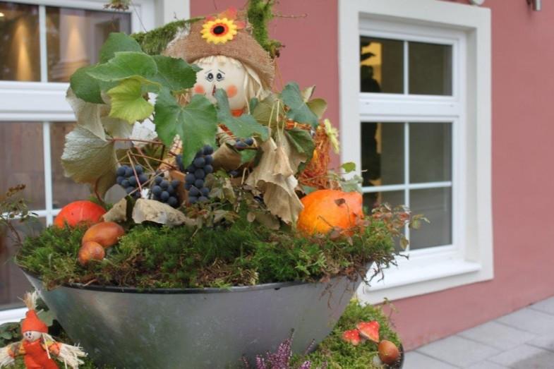 Kaskadowe Konstrukcje Kwietnikowe Terra jesienią
