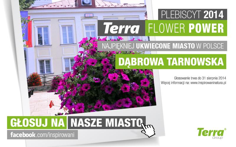 baner dabrowa tarnowska Głosuj na Dąbrowę Tarnowską w konkursie Terra Flower Power 2014