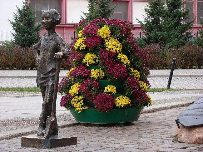 jesienne wieże kwiatowe elbląg