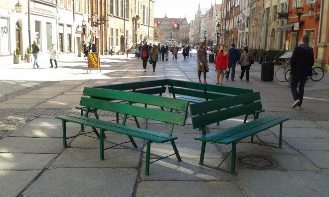 ławki miejskie