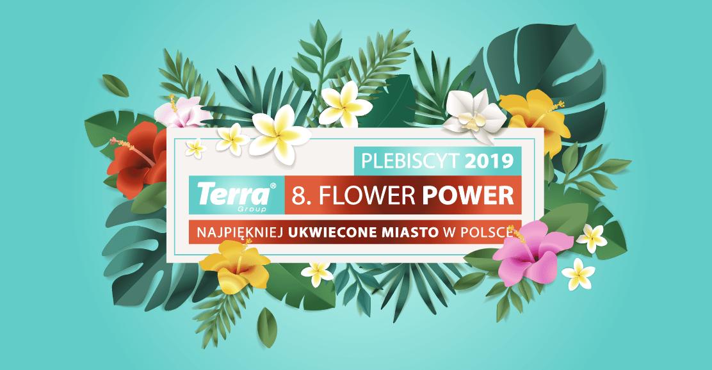 logo główne terra flower power najpiękniej ukwiecone miasto w polsce