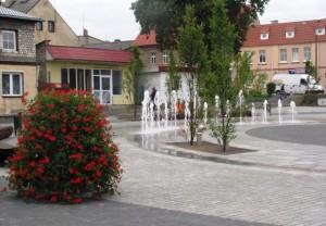 Wieże kwiatowe na rynku w Szubinie
