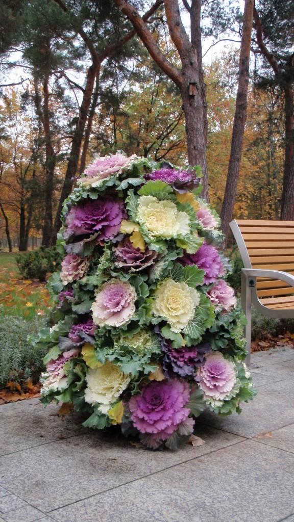 wieże kwiatowe na jesień