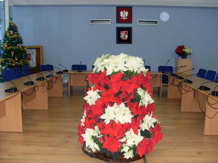 wieże kwiatowe i gwiazda betlejemska