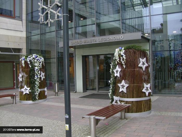jesienno-zimowe wieże kwiatowe