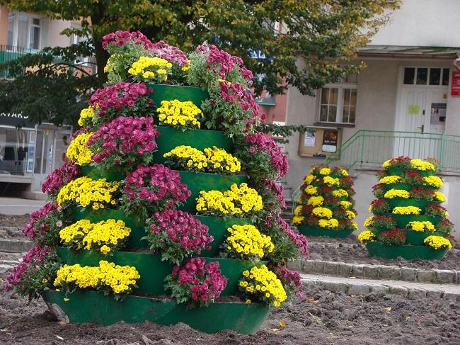 wieże kwiatowe w Elblągu