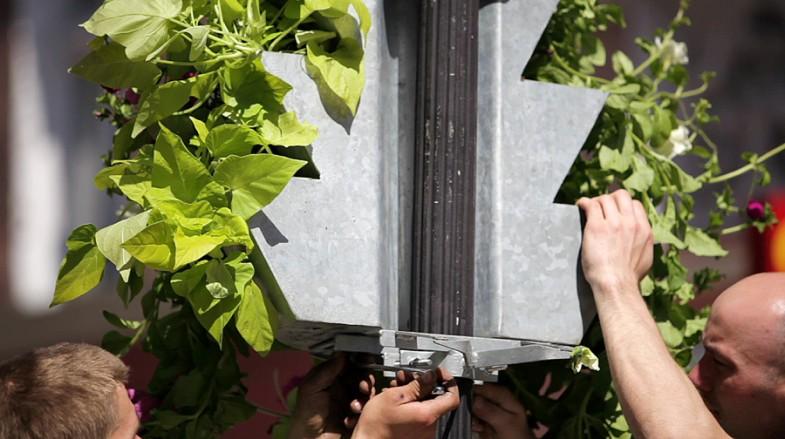 kaskadowe konstrukcje kwietnikowe