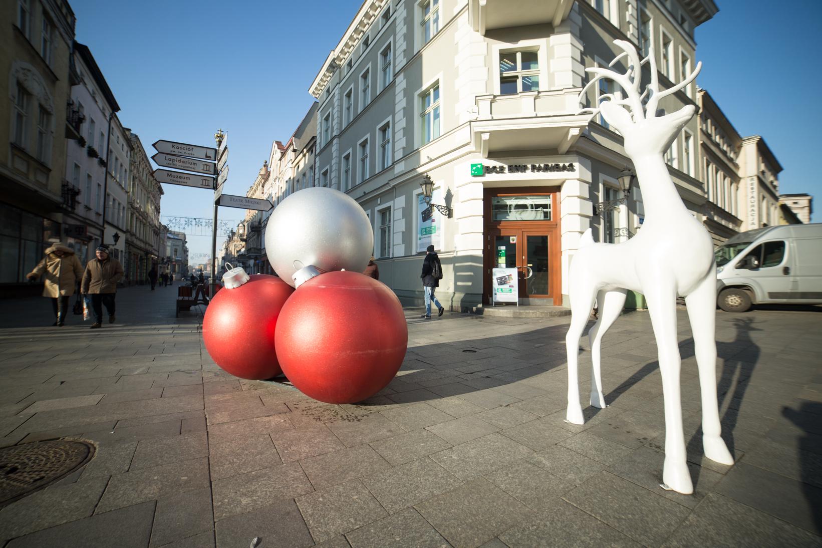 rudolf świąteczne dekoracje dla miast