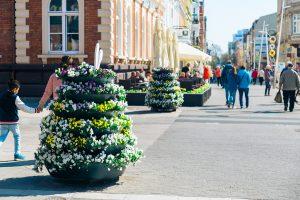 wieże kwiatowe wiosenne ukwiecenia