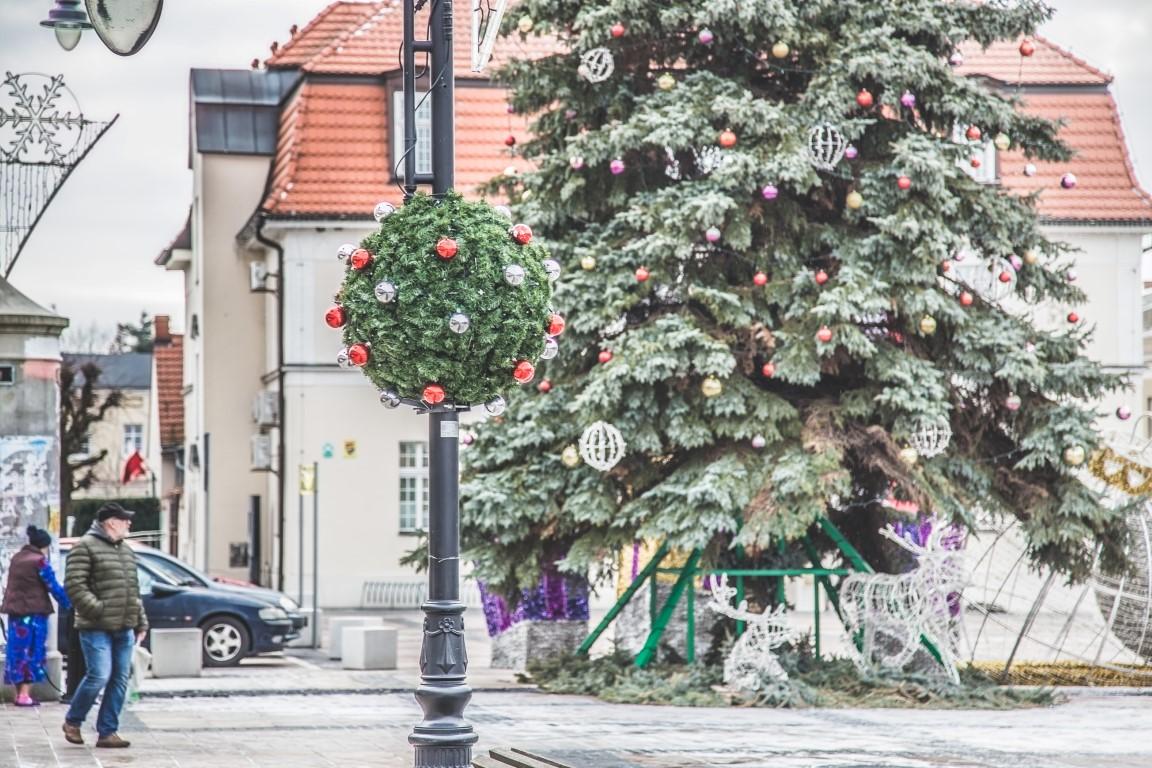 świąteczne dekoracje nakładki miejskie kórnik
