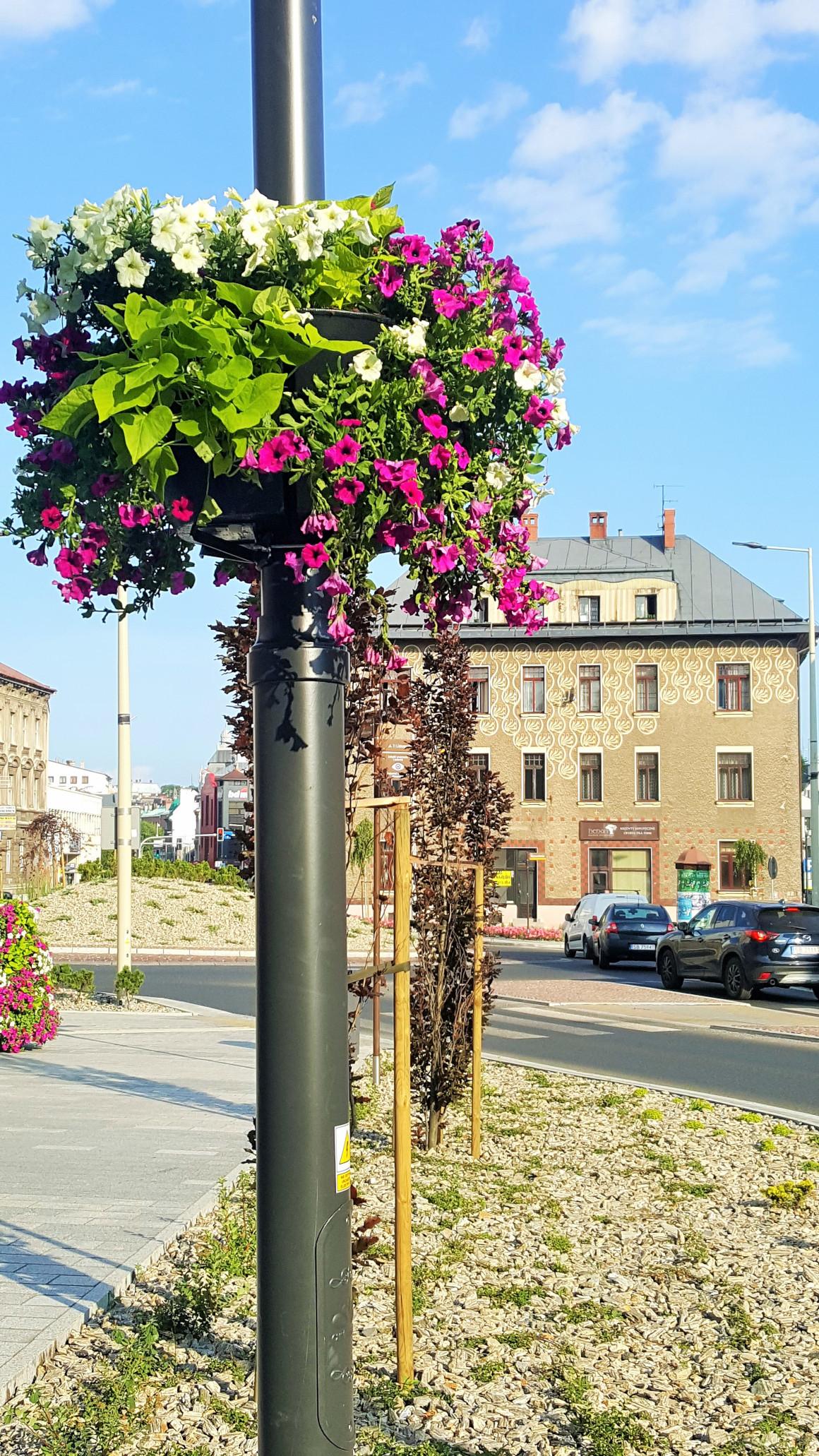 wieże kwiatowe kwietniki miejskie skrzynki kwiatowe terra group bielsko biała 12