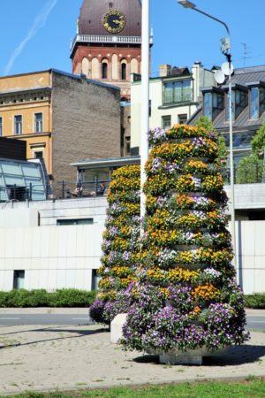 wieże kwiatowe kwietniki miejskie terra ryga 3
