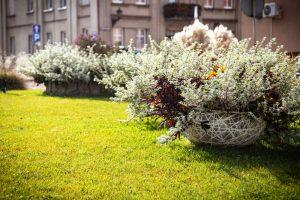 wieże kwiatowe ażurowe dekoracje kwietniki miejskie terra jesień śmigiel 34