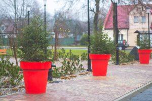 bożonarodzeniowe dekoracje miejskie nakładki donice terrachristmas człopa