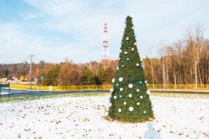 świąteczne dekoracje bożonarodzeniowe dekoracje miejskie nakładki na wieże kwiatowe terrachristmas