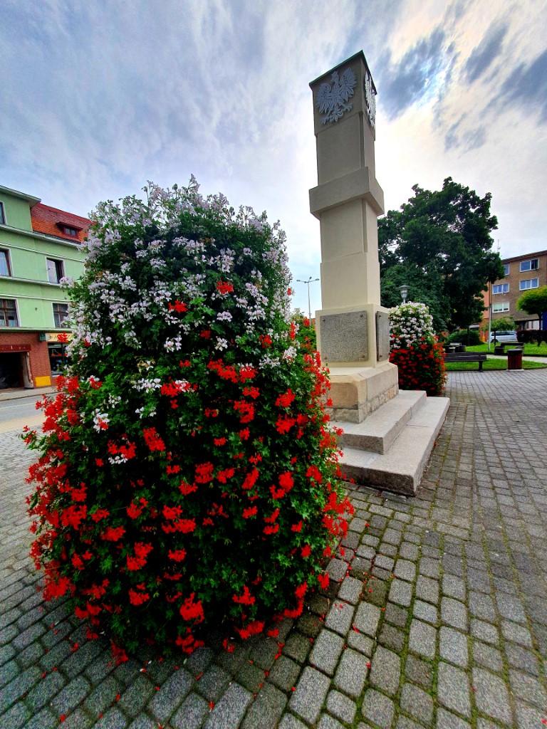 pomnik-powstancow-slaskich-czerwono-bialy-kwietnik-autor-Karolina